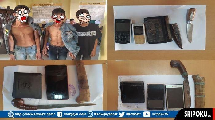 Diduga Kuat akan Merampok di Baturaja, 5 Pria Ditangkap Tim Resmob Polres OKU, 3 Bawa Senjata Tajam
