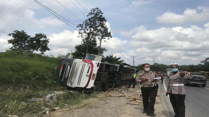Mengapa Tikungan Harmoko Muba Rawan Kecelakaan? Ini Penjelasan Polisi Usai Bus PO Sambodo Terguling