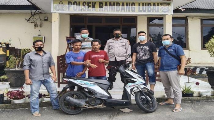 Dini Hari Terbangun, Sumitro Kaget Motornya Sudah Hilang, 2 Pelaku Ditangkap Tim Cobra Polsek Lubai