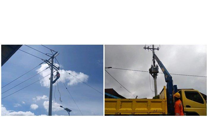 Tim PLN UP2K Sumsel ketika lagi bekerja akan mengoperasikan listrik di 3 desa yaitu, Desa Danau Gerak, Desa Pelakat, dan Desa Tanjung Agung (Dusun Prencul), Kecamatan Semende Darat Ulu, Kabupaten Muara Enim. Insert pengecek kabel saluran api.