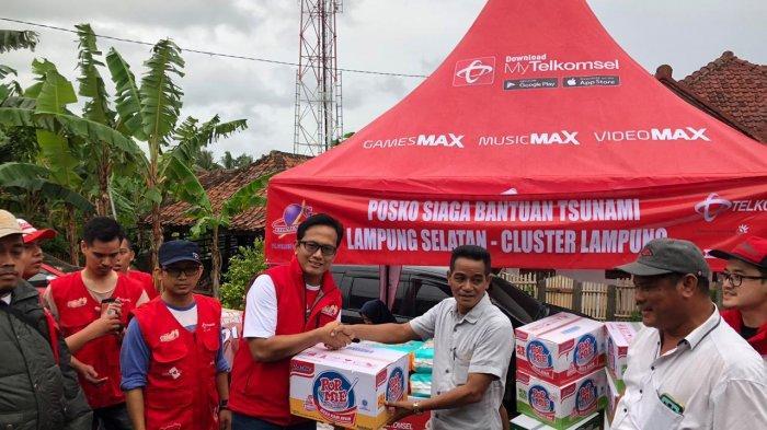 Bencana Tsunami di Selat Sunda, Jaringan Telkomsel Tetap Dapat Melayani Pelanggan di Lampung Selatan