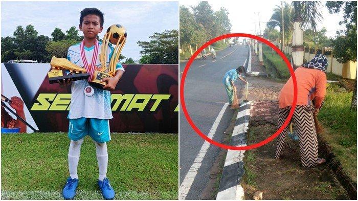 Kisah Top Skor Festival Sriwijaya FC U-12: Siswa OKU Timur, Bantu Ibu Jadi Petugas Kebersihan Jalan