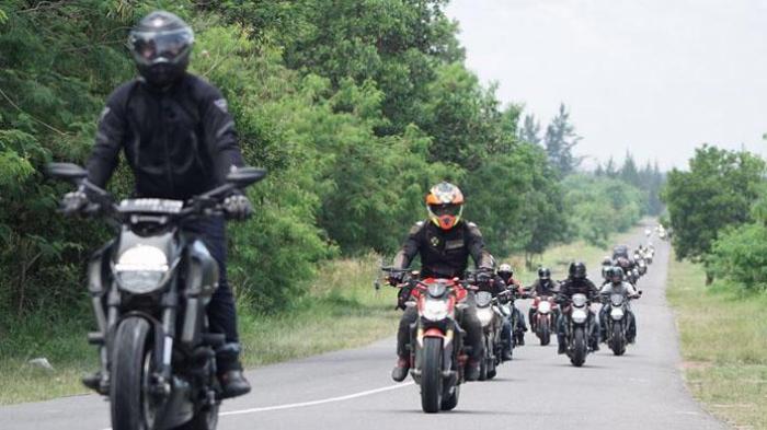 Pecinta Ducati Jelajah Lampung-Palembang-Bangka