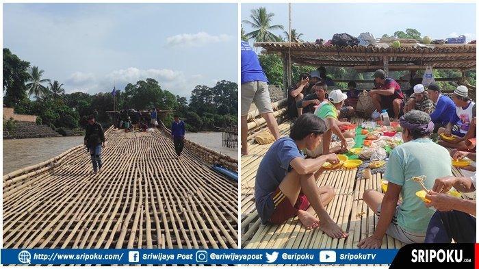 LUMPATAN Tradisi Masyarakat Empat Lawang Tangkap Ikan di Sungai Musi, Bisa Jebak Ikan Seberat 7 Ton