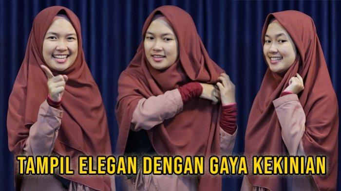 Tutorial Hijab Segi Empat Syari Sangat Mudah Dipakai Tampil Elegan Dengan Gaya Kekinian Sriwijaya Post