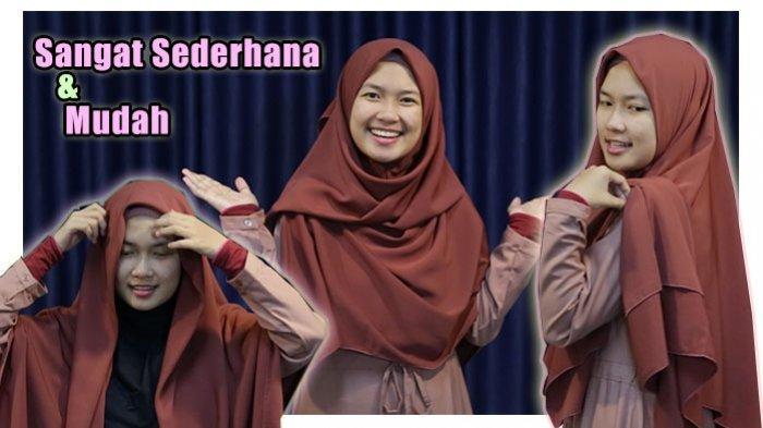 Tutorial Hijab Syari Dan Menutup Dada Sangat Sederhana Dan Mudah Tampil Modis Dengan Balutan Gamis Sriwijaya Post