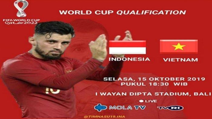 Prediksi Susunan Pemain Indonesia vs Vietnam Skuat Simon McMenemy Full Team & Waktunya Pembuktian