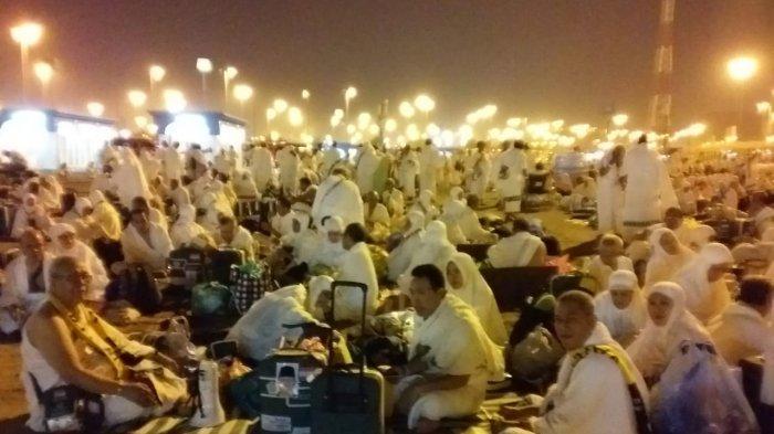Alhamdulillah, Jemaah Bersyukur Muzdalifah cerah tidak Hujan seperti di Arafah