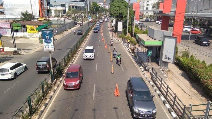 Urai Kepadatan dan Kemacetan di Depan PTC Mall, Satlantas Polresta Palembang Uji Coba Kanalisasi