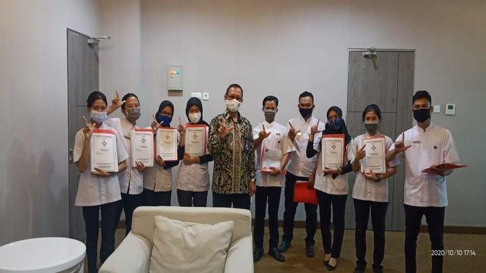 Politeknik Pariwisata (Poltekpar) Palembang melaksanakan uji kompetensi 124 mahasiswa, Sabtu (10/10/2020).