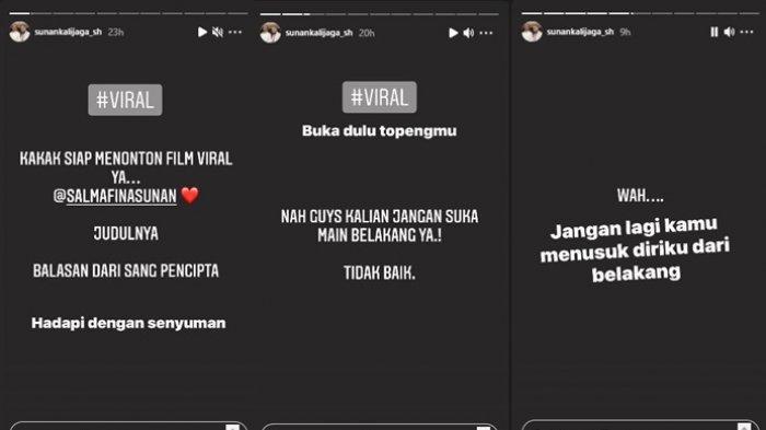 Unggahan instagram Story Sunan Kalijaga senggol ayah Taqy Malik, Minggu dan Senin (12-13/9/2021)