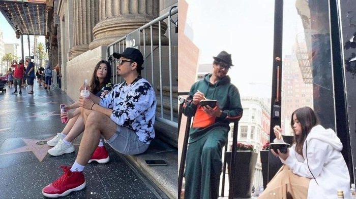 Unggahan Olivia Allan duduk di pinggir jalan dengan Denny Sumargo, Senin (13/9/2021)