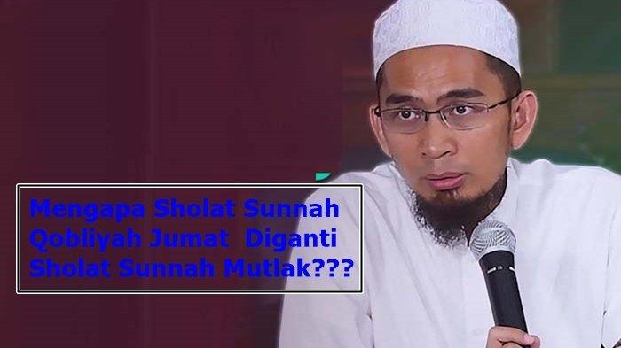 Bukan Sholat Sunnah Qobliyah Jumat Tetapi Sholat Sunnah Mutlak, Begini Penjelasan Ustad Adi Hidayat