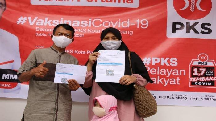 Kejar Herd Immunity & Sukseskan Vaksinasi, DPD PKS Palembang Vaksin 500 Warga Termasuk Dosis Pertama
