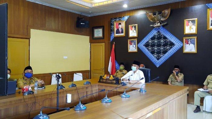 Bupati Musirawas Ikuti Vidcon dengan Mendagri dan Kepala Daerah se Indonesia, Antisipasi Covid-19