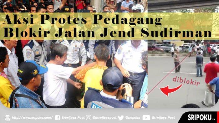 Pemilik Toko Klaim tak Tahu Edaran Dilarang Parkir di Jalan Jenderal Sudirman Palembang