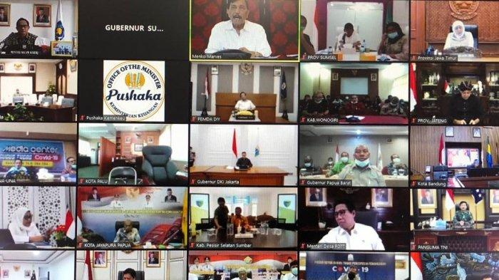 Vicon Bareng para Menteri, Herman Deru Maksimalkan Upaya Penanganan Covid-19 di Sumsel
