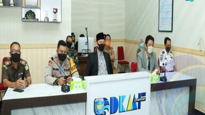 Wabup OKU Selatan Sholiehien Abuasir Hadiri Vidcon Launching Aplikasi SI-PantauCovid19SS