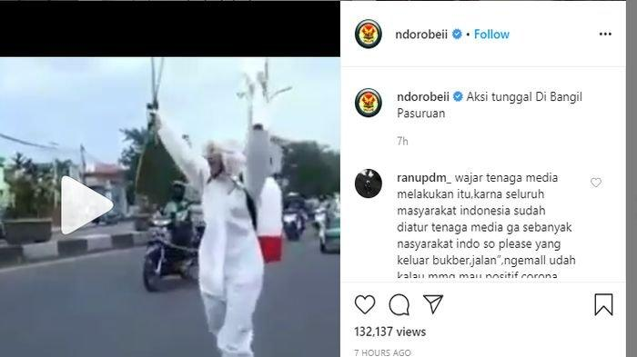 Viral Video Seorang Kenakan Hazmat Teriak-teriak di Jalan, Sindir Banyak Warga Belanja Baju di Mal