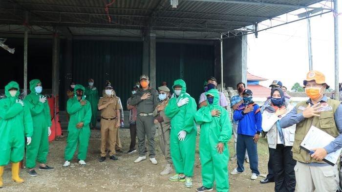 Wakil Bupati OKU Selatan Apresiasi Kinerja Petugas Posko Terpadu Pencegahan Covid-19 di Perbatasan