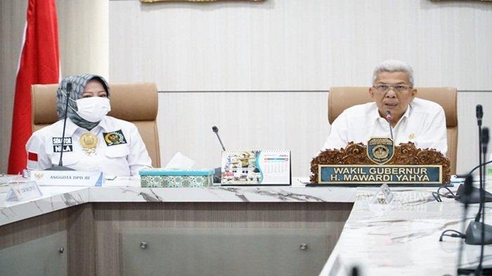 MY Terima Anggota DPD RI Terkait Pengawasan Perencanaan Program Daerah Tahun 2022