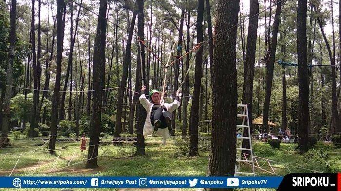 3 Wahana Terbaru di TWA Punti Kayu Palembang, Bersepeda di Atas Pohon Pinus hingga Perang-perangan