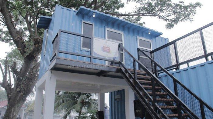 Wajah rumah pintar yang baru diresmikan oleh Direktur Operasi dan Produksi Pusri Filius Yuliandi, yang bekerjasama dengan Komandan Lanal Palembang, Kolonel Laut (P) Filda Malari, dan pemerintahan setempat, Jumat (27/8/2021).
