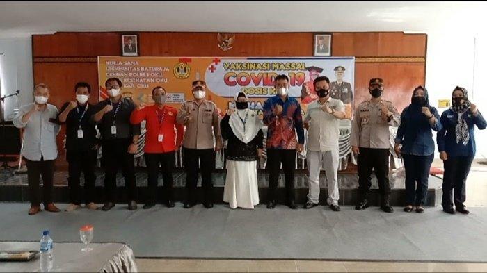 Polres OKU Fasilitasi Vaksin Covid-19 di Universitas Baturaja