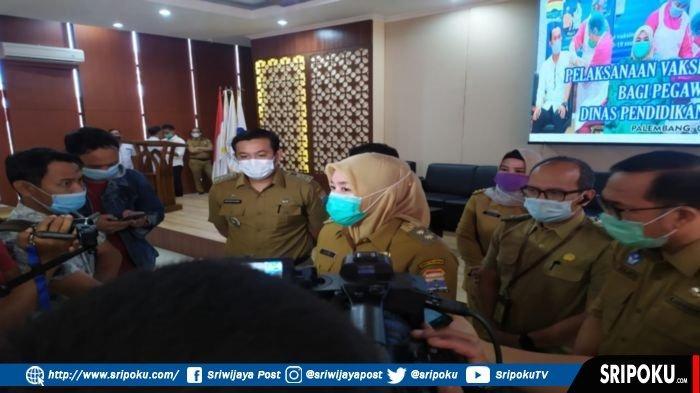 Wakil Walikota Palembang, Fitrianti Agustinda, Senin (8/3/2021).