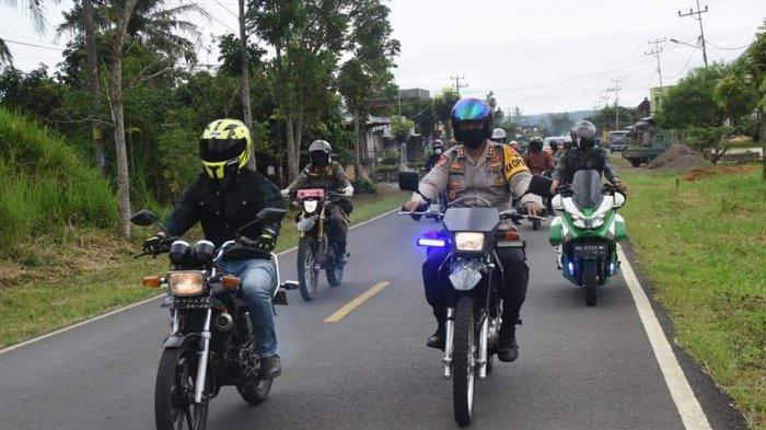 WALIKOTA Alpian Maskoni Ajak Kapolres Kendarai Sepeda Motor, Cek Posko Pintu Masuk Kota Pagaralam