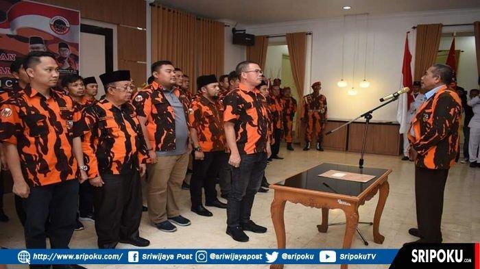 Walikota Pagaralam Alpian Maskoni Dikukuhkan Jadi MPC Pemuda Pancasila Masa Bakti 2019-2023