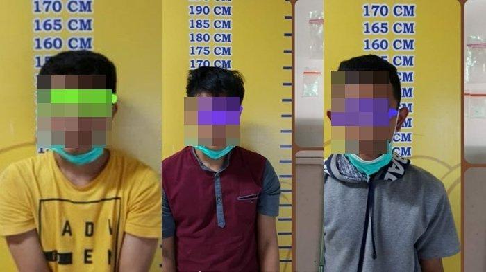 Tiga Warga Gasing Laut Banyuasin Ditangkap Ditres Narkoba Polda Sumsel, Polisi Sita Dompet Emas