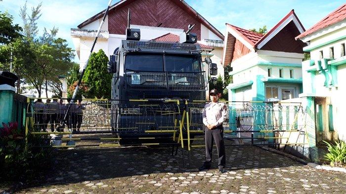 Debat Publik Pilwako Pagaralam, Polres Turunkan Mobil Water Canon