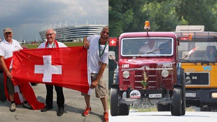 Waw, Tiga Sahabat Ini Lakukan Perjalanan Epik ke Rusia dengan Traktor,  Demi Timnas Swiss