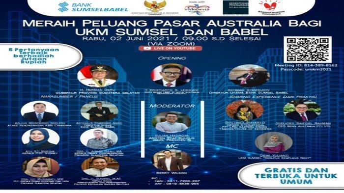 Staf Khusus Wapres Fasilitasi Virtual Pelaku UKM Sumsel-Babel dengan Pengusaha Diaspora di Australia