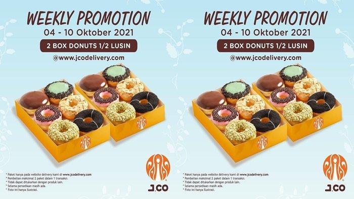 Promo JCO 2 Boks Donuts Isian 1/2 Lusin Rp 85 Ribu