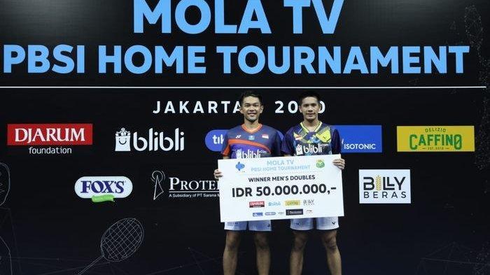 PBSI Home Tournament - Fajar Alfian/Yeremia Erich Juara Ganda, Ungkap Kunci Kalahkan Kevin Sanjaya