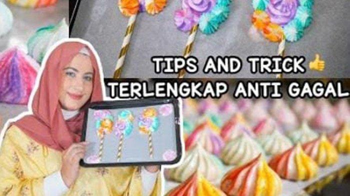 Cara Membuat Meringue Cookies Anti Gagal Ala Youtuber Cantik Tasyi Athasyia