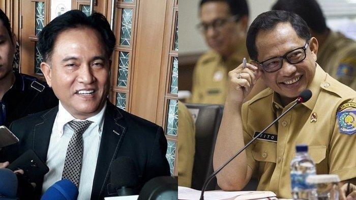 "Yusril Semprot Tito Karnavian, ""Instruksi Mendagri Bukan Peraturan Perundang-undangan"""
