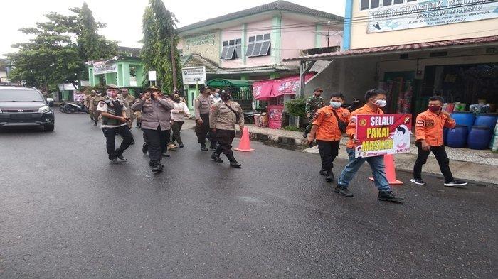 Operasi Yustisi Protokol Kesehatan Covid-19 Digelar di Pasar Baru Baturaja, Warga Mulai Sadar 3M