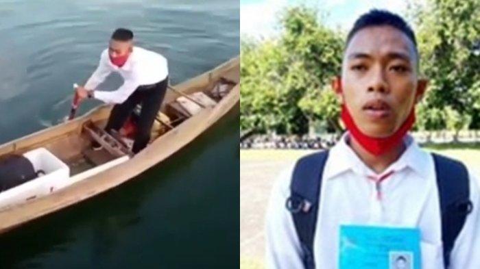 Naik Perahu Seorang Diri Kayuh Sejauh 17 Km, Anak Nelayan Ini Lulus Jadi Prajurit TNI AL, Luar Biasa