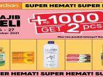Promo Guardian Selama Dua Pekan hingga 27 Oktober Ada Promo Tambah Rp1.000 Dapat Dua Produk