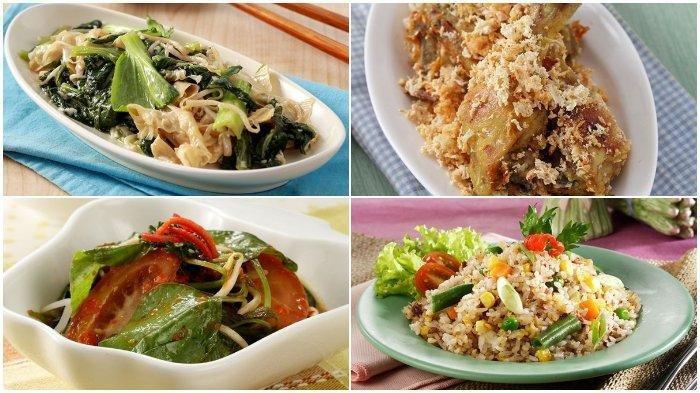 Aneka Resep Mudah Makanan Rumahan: Tumis Bayam Balado, Pokcoy Kembang Tahu, Ayam Kremes Kelapa