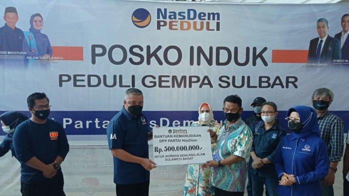Nasdem Sumbang Rp1,1 M untuk Korban Gempa Sulbar