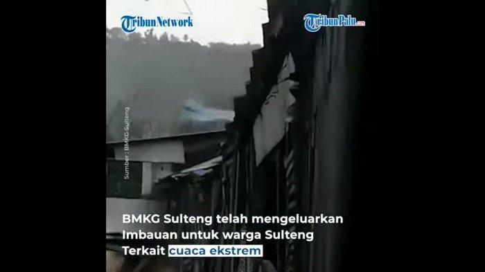 BREAKING NEWS: Angin Puting Beliung Porak Poranda Rumah Warga di Poso Sulteng