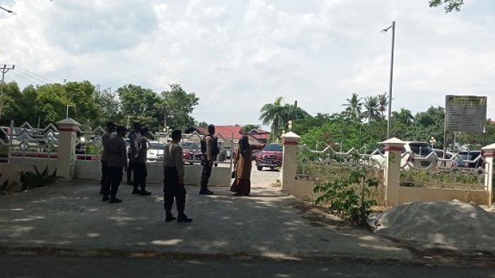 Begini Penjagaan Ketat Polisi di Lokasi Pelantikan Kepala Daerah se Sulteng