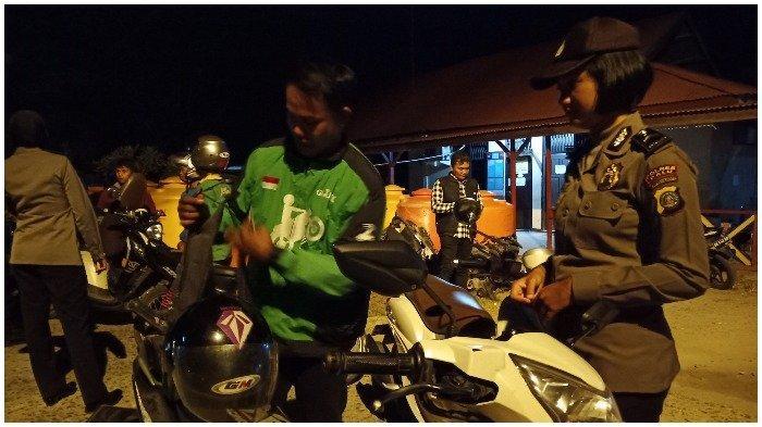 Razia Kendaraaan di Palu, Puluhan Sepeda Motor Terjaring