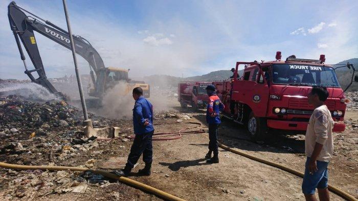 Sampah di TPA Kawatuna Terbakar Lagi, 12 Petugas dan 2 Mobil Pemadam Kebakaran Dikerahkan