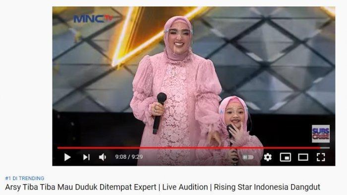 Penampilan Arsy Hermansyah dan Ashanty di Rising Star Indonesia Dangdut menjadi trending topic nomer 1 YouTube