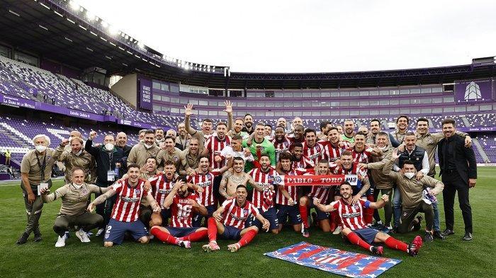 Hasil Liga Spanyol - Luis Suarez Antar Atletico Madrid Juara di Pekan Terakhir